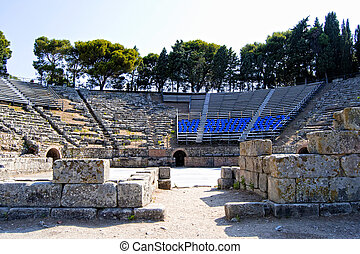 Ancient greek theater of Tindarys
