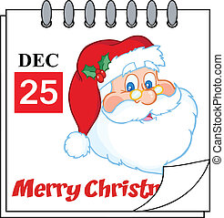 Christmas Calendar With Santa Claus