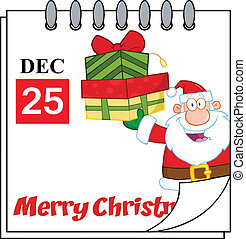 Holiday Calendar With Santa Claus