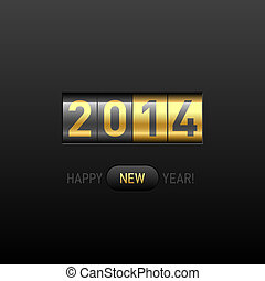 Happy New Year 2014 card - Vector illustration
