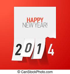 Feliz, Novo, ano, 2014, saudações