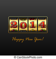 Happy New Year 2014 card - Happy New Year