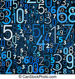 Vector background from numbers - Vector blue background from...