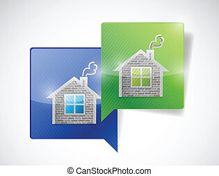 real estate home message communication