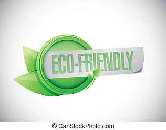 eco friendly leaves banner illustration design over white