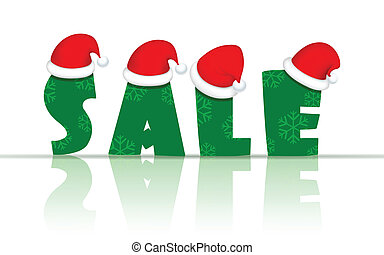 Christmas Sale - illustration of Christmas Sale banner with...
