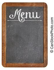 menu on vintage  blackboard