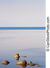 Calm Seascape With Rocks