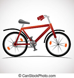 Mountain bike icon isolated on white
