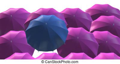 guarda-chuva, líder, original, saliência,...