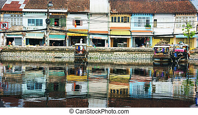 ancient city reflect on water - Ancient city reflect on...