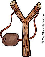 slingshot clip art cartoon illustration