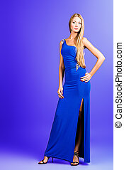 fashionable - Full length portrait of a fashionable model in...