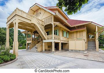 estilo, casa, tradicional,  Chiangmai, Tailandia, tailandés