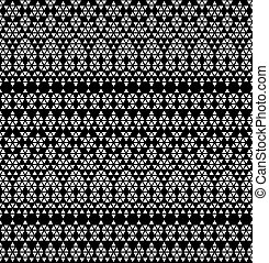 Tribal monochromic lace. Vector illustration.