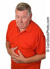 Old man with stomach ache - Old man with stomache ache -...