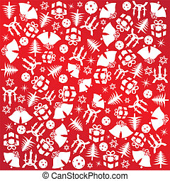 christmas wrapping paper - Christmas wrapping paper with red...