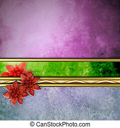 abstract Christmas poinsettias background