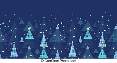Abstract holiday Christmas trees horizontal seamless pattern...
