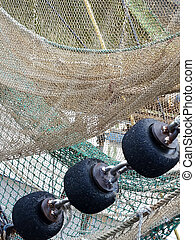 Fishing net - Image of a fishing net in germany