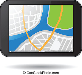 Tablet PC with map