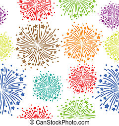 Firework seamless - Seamless firework on white background...