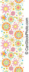 Colorful Christmas Stars Vertical Seamless Pattern Background
