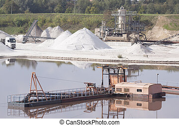 Sand mining in Holland