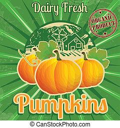 Vintage pumpkins poster
