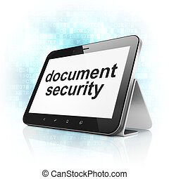 Protection concept: Document Security on tablet pc computer