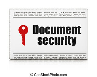 Protection news concept: newspaper with Document Security
