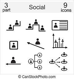 sociaal, iconen