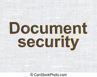 Protection concept: Document Security on fabric texture