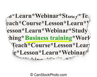 Education concept: Business Training on Paper background