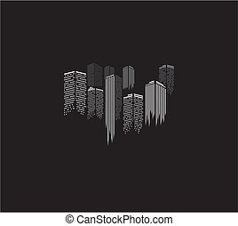 city icons illustration
