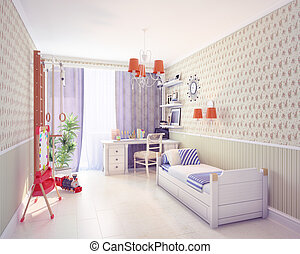 playroom interior. classic style concept