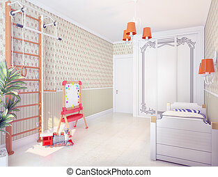 playroom interior classic style concept