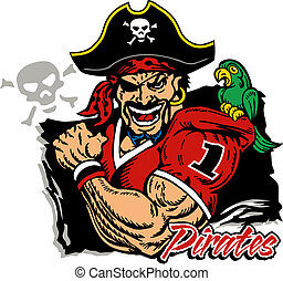 pirate football logo