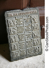 Ten Commandments - St. Mary\'s Church, Fort St. George,...