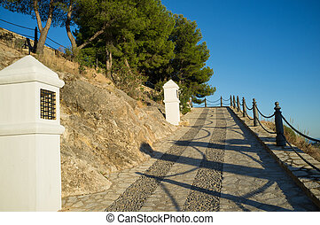 Calvary way - Traditional calvary under Mediterranean...