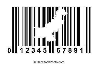 Pakistan bar code - Pakistan shopping bar code isolated on...