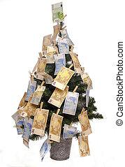 Opmerkingen, boompje, Kerstmis, eurobiljet