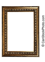 vintage art frame - isolated on white background with...