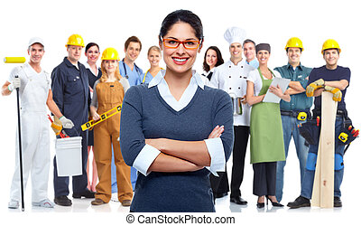 Business team - Business people group isolated Teamworking...