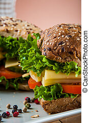 Healthy and natural sandwich - Healthy quick lunch