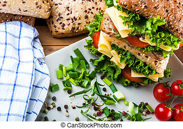Natural theme of sandwich - Healthy quick lunch
