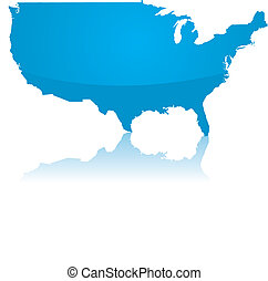 ector map of the USA - A vector map of the USA with a...