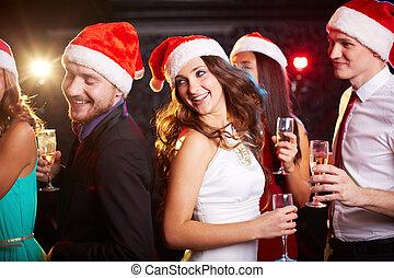 Dancing Santas
