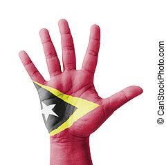 Open hand raised, multi purpose concept, East Timor...
