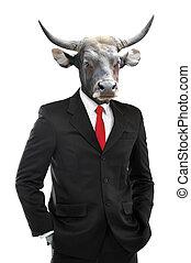 Metaphore of strong businessman concept - Metaphore of...